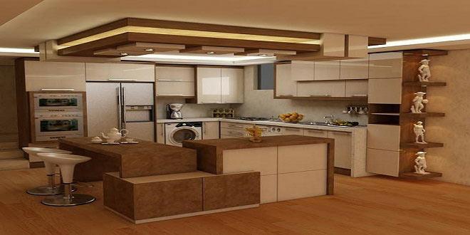 نمونه جزیره کابینت آشپزخانه