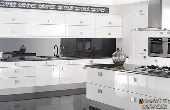 رنگ سفید کابینت آشپزخانه