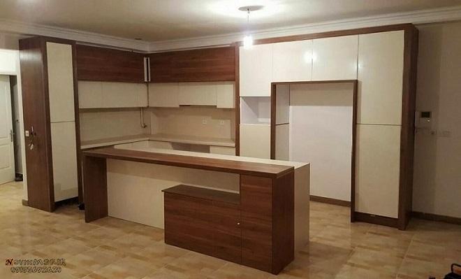 ترکیب کابینت مات و براق آشپزخانه